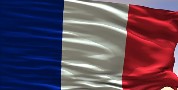 Ranska Flag - 3D, Object Taustat Motion Graphics