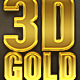 3D Gold Text Effects