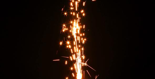 Sparks Flame Light Fireworks 8 - Industrial Arkistofilmit