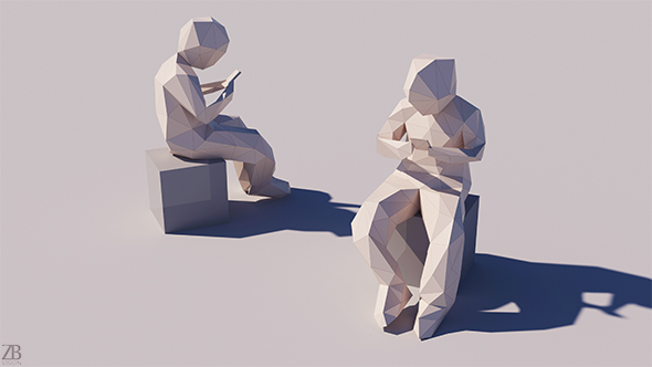 Lowpoly Kid 005 - 3DOcean Item for Sale