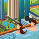 Couple on a Rooftop Swimming Pool