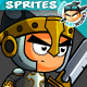 Knight 2D Game Character Sprites 217