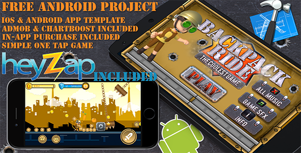BackPack Ride - iOS - Android - iAP + ADMOB + Leaderboards + HeyZap - CodeCanyon Item for Sale