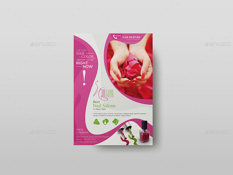 Nail Salon/ Flyer Template by wutip2   GraphicRiver