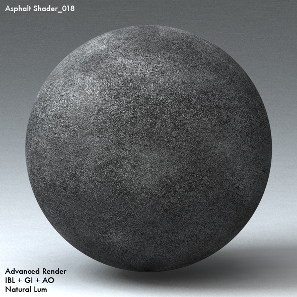 Asphalt Shader_018 - 3DOcean Item for Sale