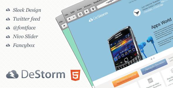 ThemeForest DeStorm Premium Landing Page 1615991