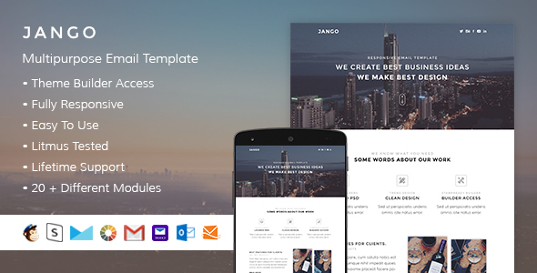 Jango - Responsive Email + StampReady Builder