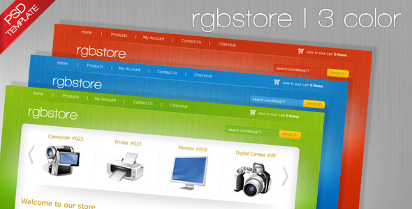 ThemeForest RGBStore Ecommerce PSD Template 63238