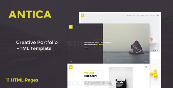 Antica — Multipurpose Business Agency/Personal Portfolio HTML Template