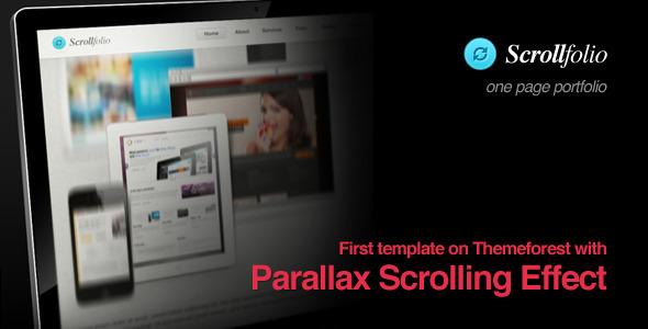 ThemeForest Scrollfolio Parallax Scrolling Effect portfolio 1616923