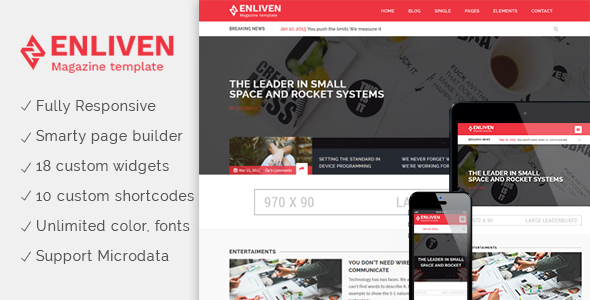 Download The Enliven - Parallax Blog and Magazine WordPress Theme nulled download