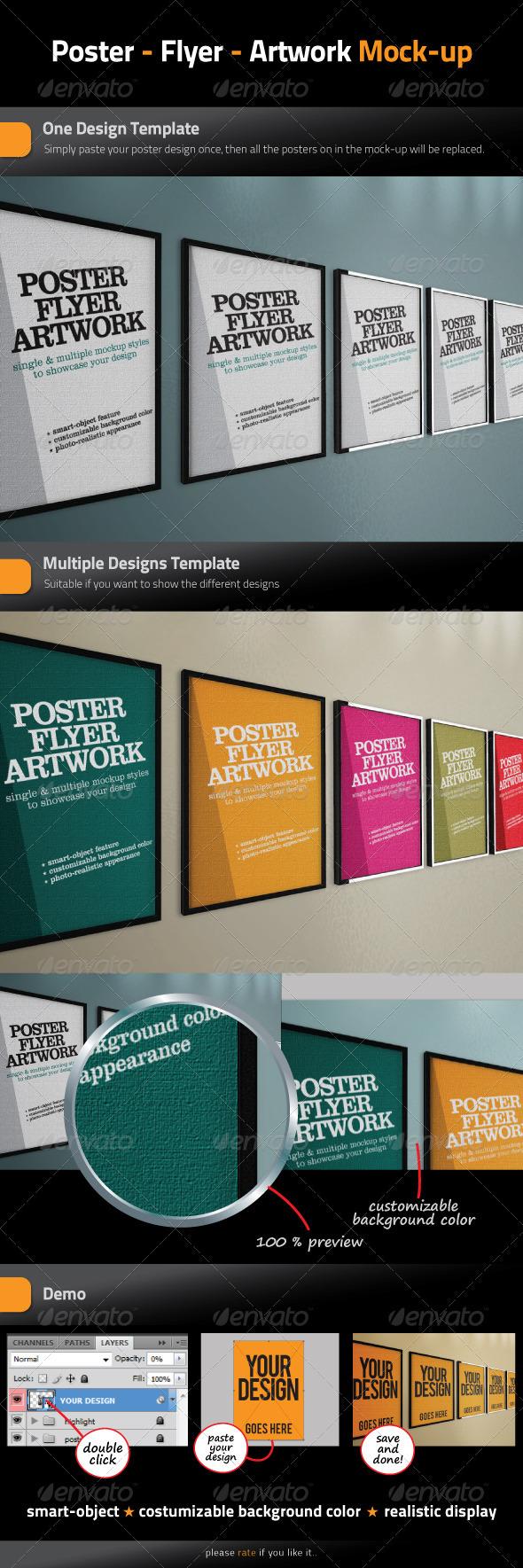 GraphicRiver Poster Flyer Artwork Mock-Up 843962