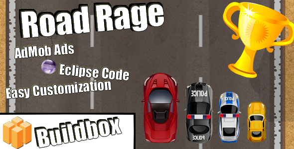 Road Rage - Android Buildbox & Eclipse Game Template - CodeCanyon Item for Sale