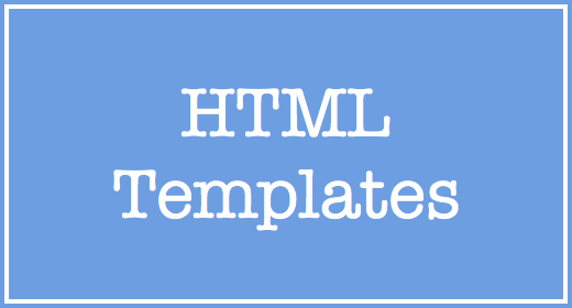 Our HTML Templates