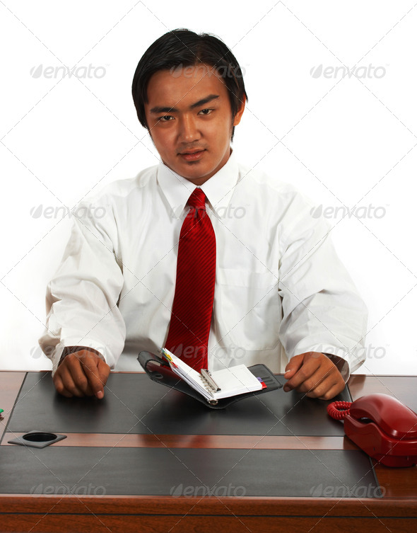 Office Worker Planning His Schedule - Stock Photo - Images
