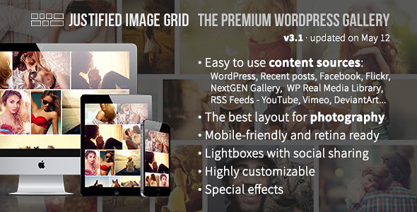 Justified Image Grid - Premium WordPress Gallery