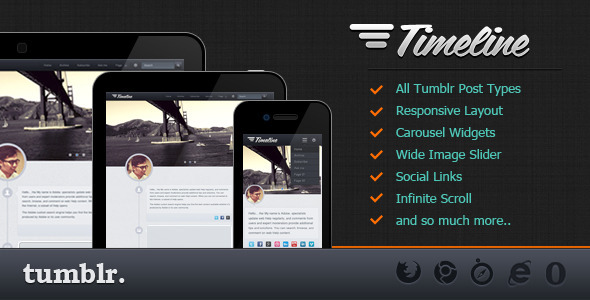 Timeline tumblr theme - ThemeForest Item for Sale