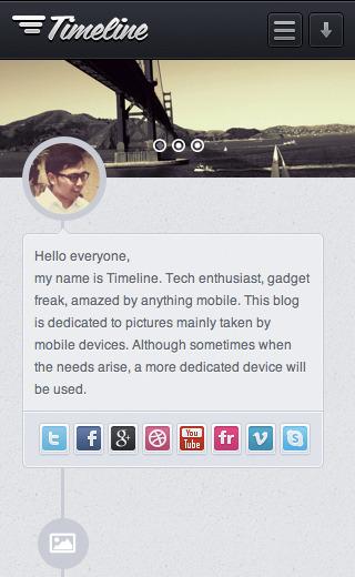 Timeline - Premium Tumblr Theme - Timeline Theme mobile view