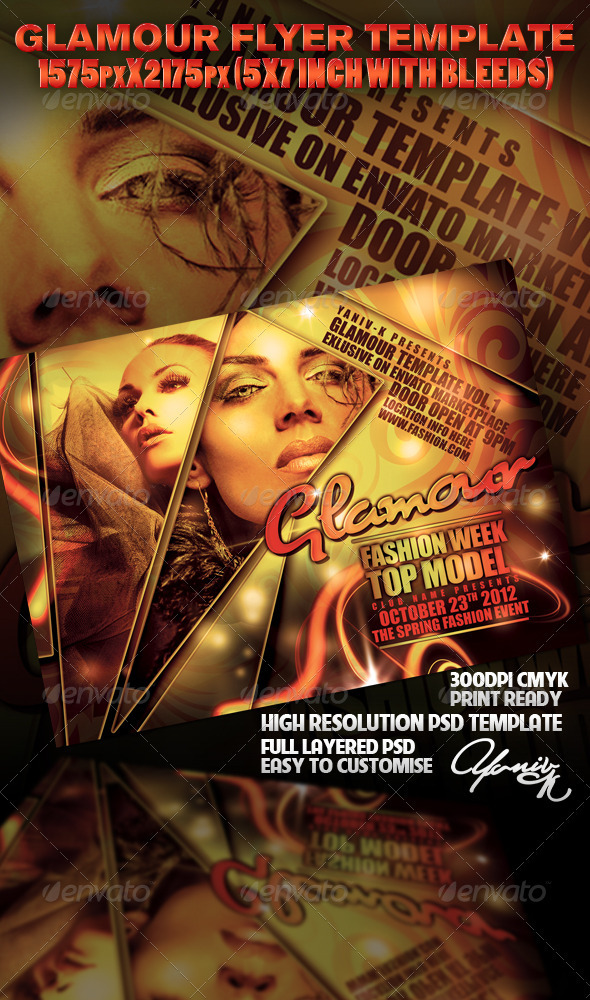 Glamour Flyer Template - Clubs & Parties Events