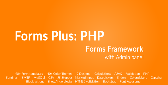 Download Forms Plus: PHP - Forms Framework nulled download