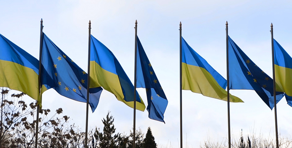 Download Flag Ukraine And EU nulled download