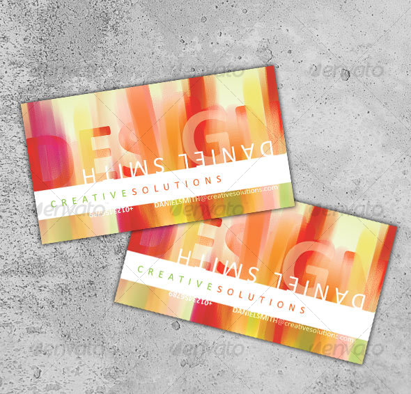 GraphicRiver Modern Business Card No 6 63276