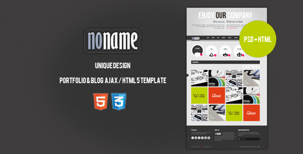 ThemeForest AGT Noname Ajax HTML5 Template 1617778