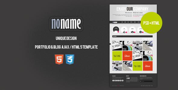 AGT Noname Ajax / HTML5 Template