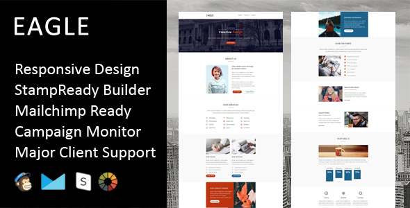 Eagle - Multipurpose Responsive Email Template + Stampready Builder