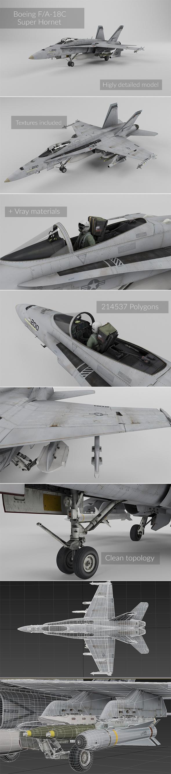 3DOcean F A-18C Super Hornet 16163928