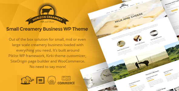 Horizon Creamery - Creamery WP business theme