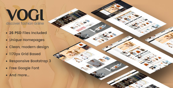 Vogi - Multi-Purpose eCommerce PSD Template