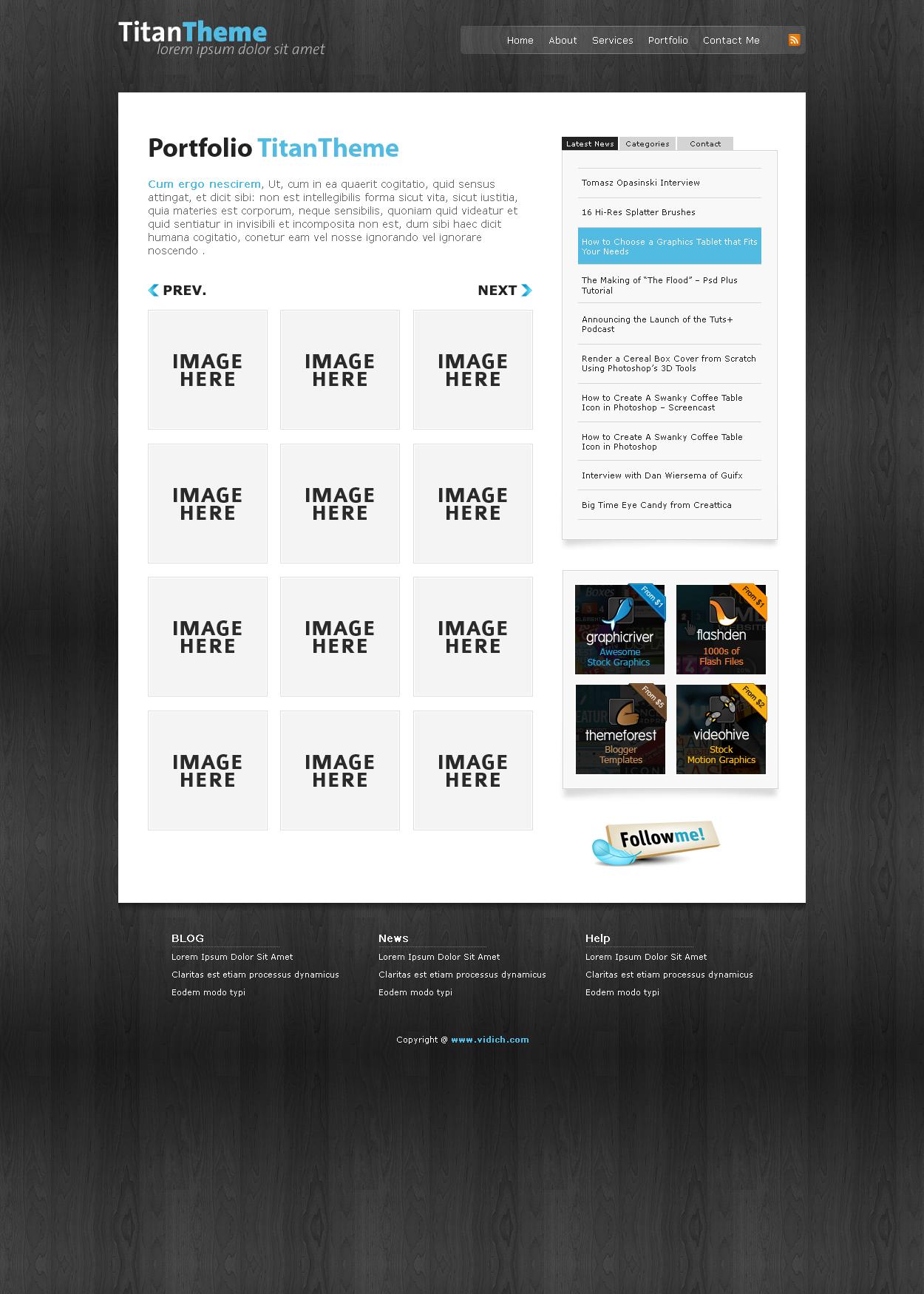 Titan Theme - xHTML / CSS -
