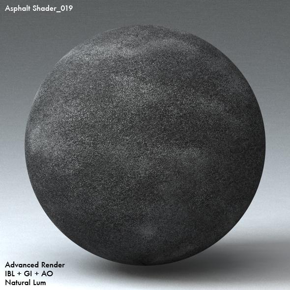 Asphalt Shader_019 - 3DOcean Item for Sale