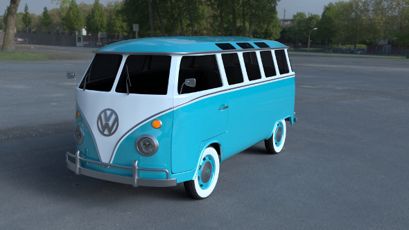 VW Bus Mk 1 HDRI - 3DOcean Item for Sale