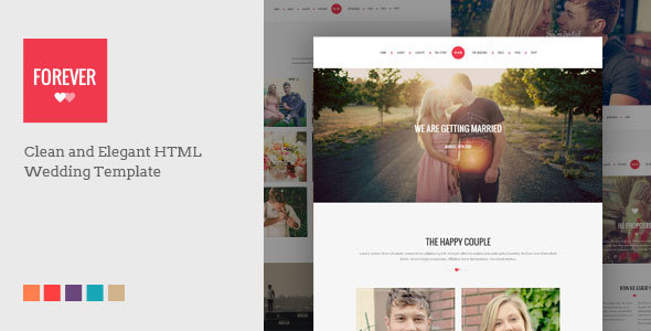 1. FOREVER - Responsive HTML Wedding Template