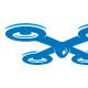 Drone - letter X logo