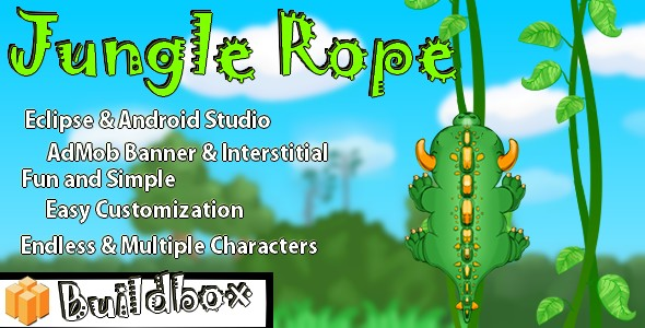 Jungle Rope - Android Buildbox & Eclipse Game Template