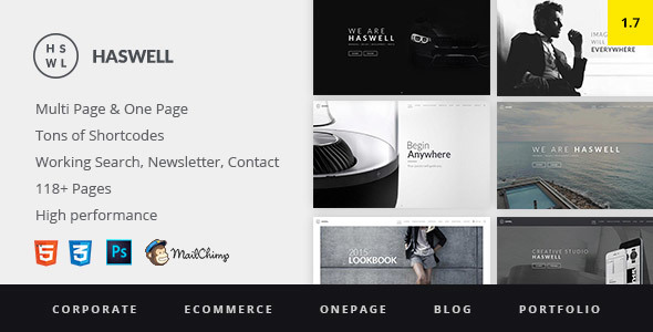7. Haswell - Multipurpose One & Multi Page Template