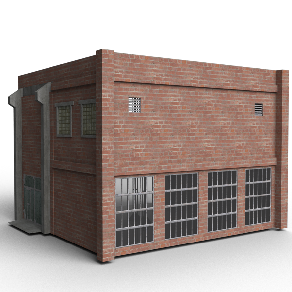 Old Modular Warehouse - 3DOcean Item for Sale