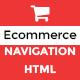 SHOP MENU -Creative e-commerce Bootstrap mega menu – HTML (Navigation and Menus) Download