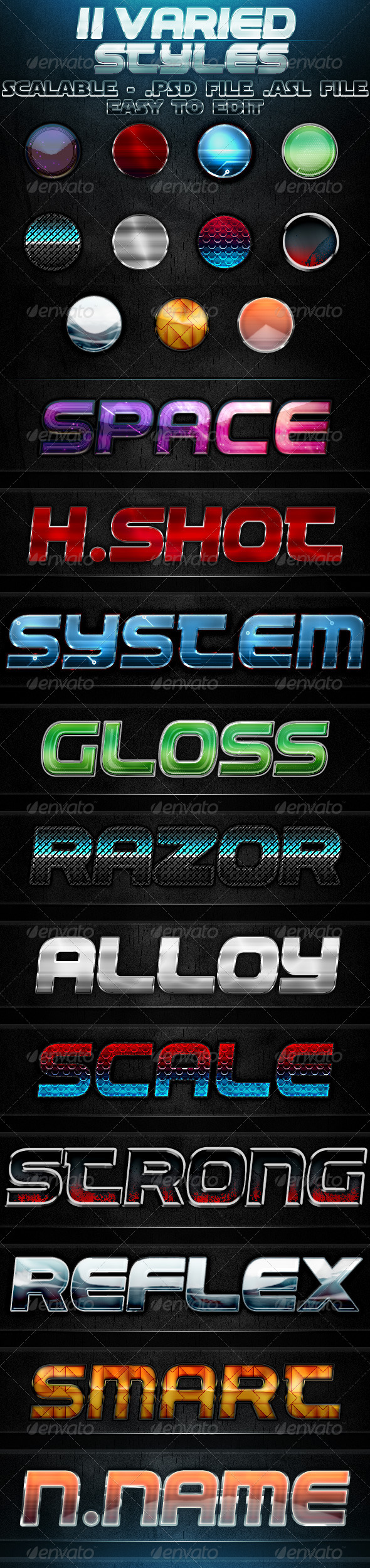 GraphicRiver 11 Varied Styles 1618691