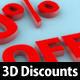 3D Discount Banners - GraphicRiver Item for Sale