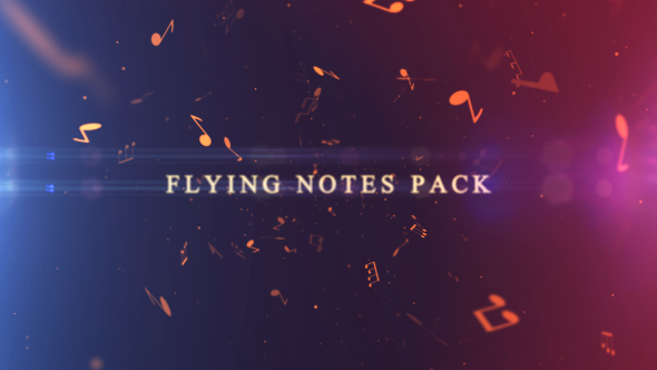 Flying Notes Pack - 3D, Object Taustat Motion Graphics