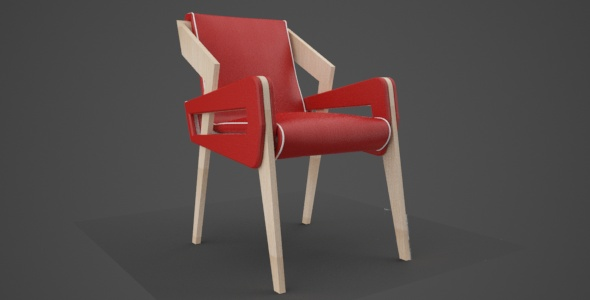 chair wood leather - 3DOcean Item for Sale