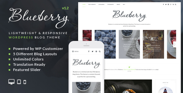 Download Blueberry - A Responsive WordPress Blog Theme nulled download