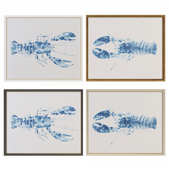 Charlotte Morgan Lobsters - 3DOcean Item for Sale