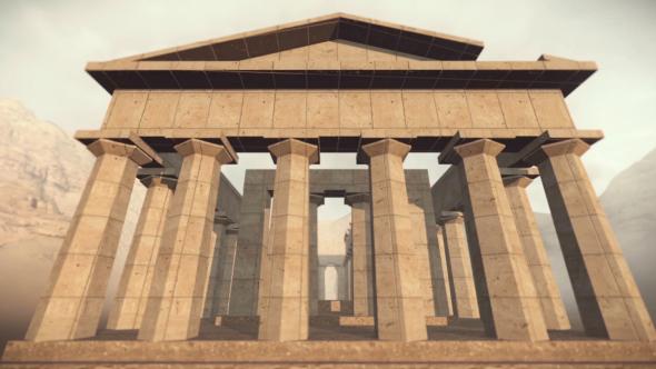 3D muinaiskreikka Temple - 3D, Object Taustat Motion Graphics