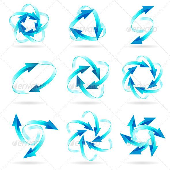 GraphicRiver Set of arrow circles 1619381