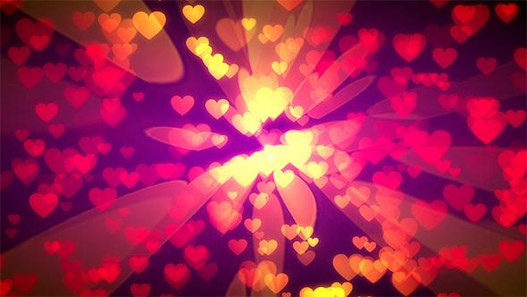 Romantic Hearts - Tapahtumat Taustat Motion Graphics